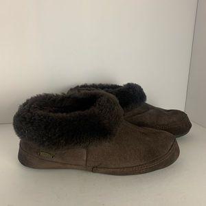 Acorn Suede Slippers